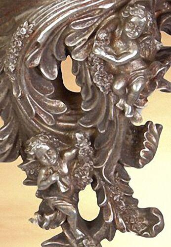 Konsole Ablage silberfarben Barock Stil Vintage Kunst Antik Dekor Geschenk