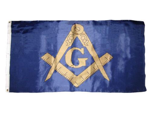 3x5 Blue and Bronze Gold Mason Masonic Freemason Flag 3/'x5/' House Banner RAM