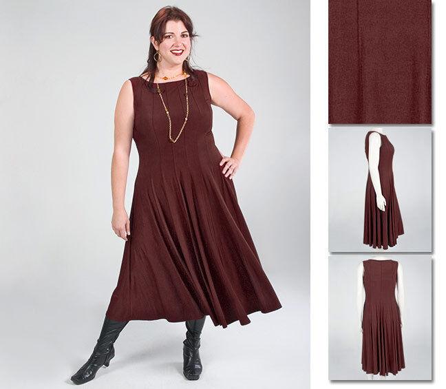 NEW Zaftique SYMPHONY Dress COFFEE Brown 0Z 4Z     14 28   Large L 4X 817890