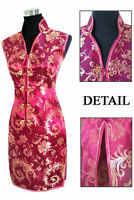 Fashion Chinese women's MINI Dress Cheongsam Red Size S M L XL XXL