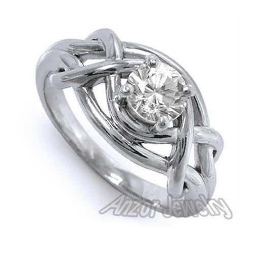 950 Solid Platinum Natural White 1.00 ct.t.w. Sapphire Ring, Ring Sizes 4 to 9.