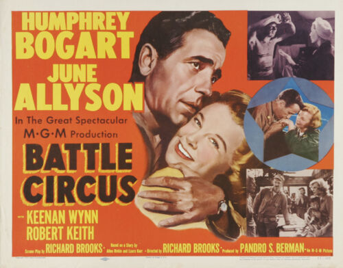#13 Battle Circus Humphrey Bogart vintage movie poster
