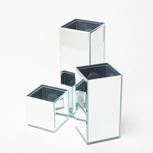 Richland Mirrored Vases, Set of 6 Home, Event & Wedding Decor & Centerpieces