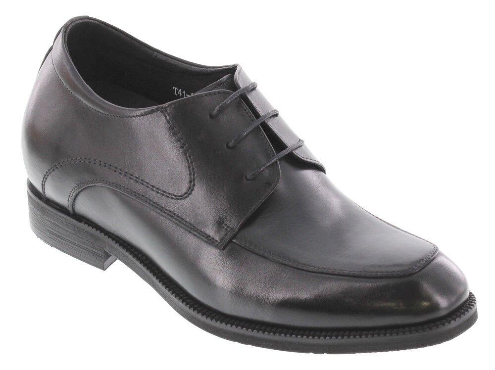 Calto - T4101 7.6cm Aufzug Erhöhung Schwarz Klassisch Formelle Schuhe