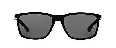 adc62c2c60b NWT EMPORIO ARMANI Sunglasses EA 4058 506381 Polarized Rubber Black   Gray  58 mm