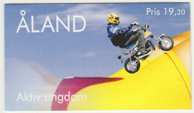 Stamps Humorous Aland 1998 Youth Activities Booklet Sg Sb6 Moped Computer Aerobics Music Mnh/unm Europe