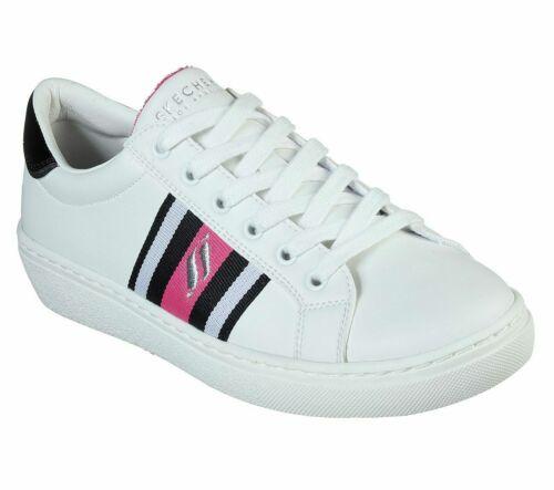 White Sneaker Skechers Shoes Women Pink