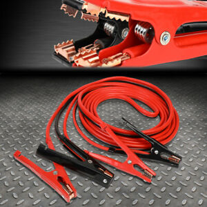 Battery Jumper Cables 4 Gauge 500 Amp Extra Long 16 Feet Heavy Duty Professional