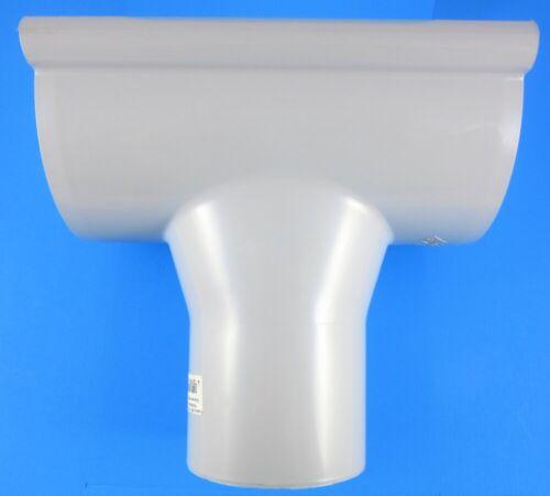 Inefa PVC-Rinnen-Stutzen Protektor Ablaufstutzen zum Klemmen grau 7035 NW150//100