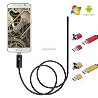 2M 5.5mm Android and PC 2in1 Endoscope Waterproof Borescope Inspection Camera UK