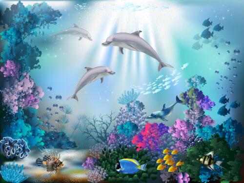 Fototapete Delphine Kinderzimmer Delfine - Kleistertapete oder Selbstklebende