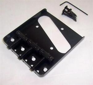 3 saddle ashtray bridge for fender telecaster black ebay. Black Bedroom Furniture Sets. Home Design Ideas