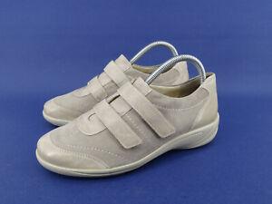 Details zu SEMLER Schuhe Slipper Damenschuhe Halbschuhe Klettschuhe Leder Gr.39 6 H