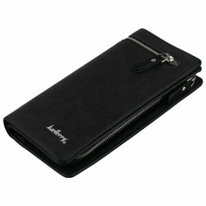 baellerry-Men-039-s-PU-Leather-ID-Card-Holder-Zip-Long-Wallet-Purse-Clutch-Chec-J8O3