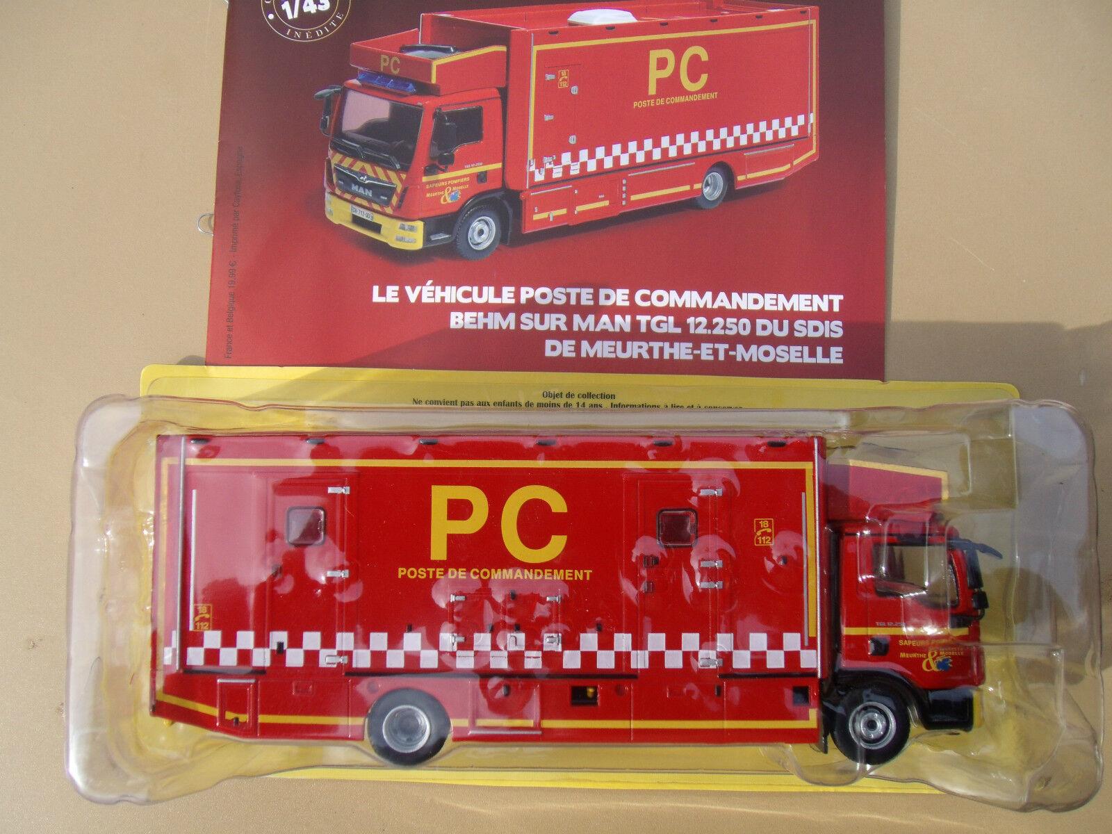 Neuf 55 43 De Camion Behm Poste Sdis 250 12 Man Pompier N° 54 1 Tgl BCWdQxroe