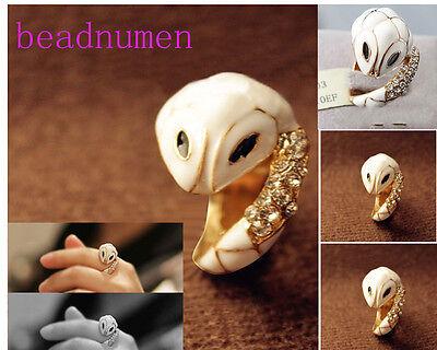 wholesale 1/5/12pcs alloy Fashion Small white snake rings