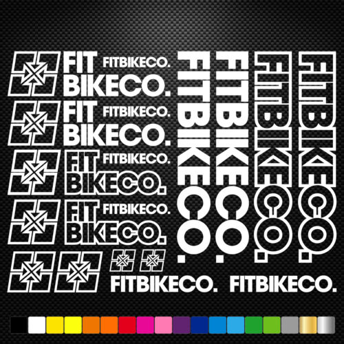Compatible Fitbikeco Vinyl Decals Stickers Sheet Bike Frame  Cycling Bicycle