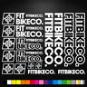 Fitbikeco Vinyl Decals Stickers Sheet Bike Frame Cycle Cycling Bicycle Mtb Road