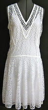 NEW REBECCA TAYLOR WHITE TILE LACE DRESS WEDDING COCKTAIL HI LOW SIZE 6 $495 NWT