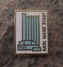 Antique Karl Marx Stadt Chemnitz Mercure Hotel Modern Architecture Pin Badge