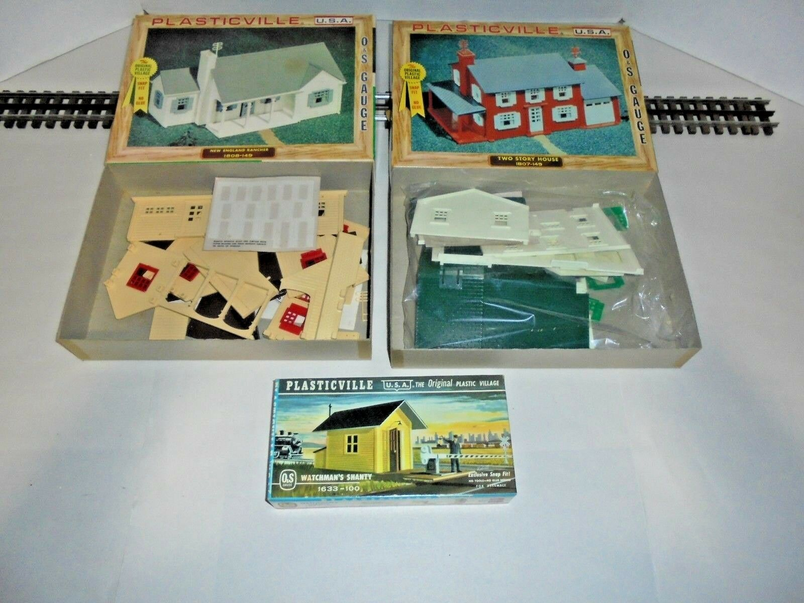 PLASTICVILLE FOR LIONEL AND AMERICAN FLYER POSTWAR ORIGINAL 3 KITS