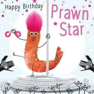 Prawn star birthday card pole dance 3d goggly eyes fluff funny image is loading prawn star birthday card pole dance 3d goggly m4hsunfo