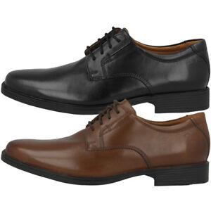 Clarks-Tilden-Plain-Schuhe-Men-Herren-Halbschuhe-Business-Leder-Schnuerschuhe