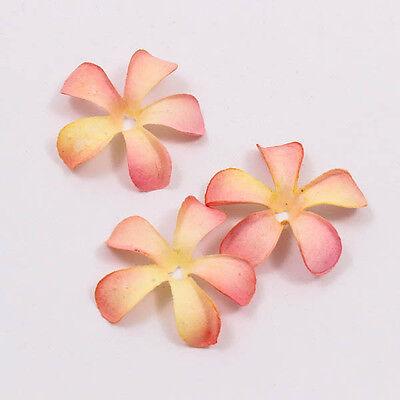 Peach Tone Plumeria Frangipani Scrapbook Mulberry Paper Flower Card Craft A1234