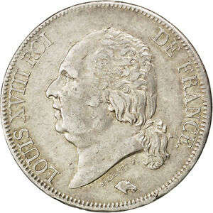 Monnaies-Louis-XVIII-second-gouvernement-royal-5-Francs-buste-nu-1823-74823