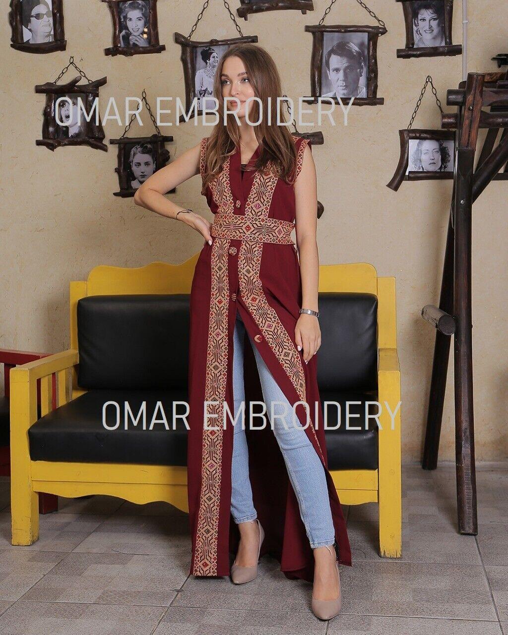 Embroidered Palestinian Abaya New Palestinian Cut Sleeve Embroidery