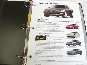 2009 BUICK DEALER SHOWROOM FULL COLOR PRODUCT PORTFOLIO W/BINDER LACROSS LUCERNE