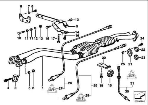 ORIGINALE BMW 18301404845-facchino impianto di scarico 3er
