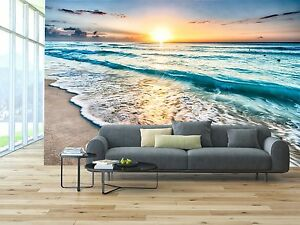 Sunrise Beach 3d Mural Photo Wallpaper Decor Large Paper Wall