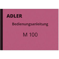 Adler M 100 Bedienungsanleitung Betriebsanleitung Handbuch Manual M100 M-100