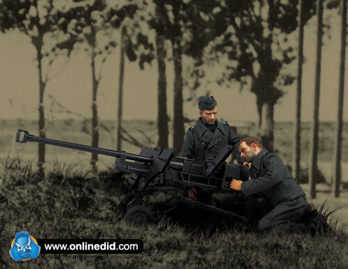 WWII German Soldier with Metal PzB41 Anti Tank Rifle 1 6th Scale Action Figure
