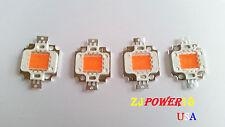 4pcs 10 Watt Full Spectrum Led Chip 380nm840nm Plant Grow Lights