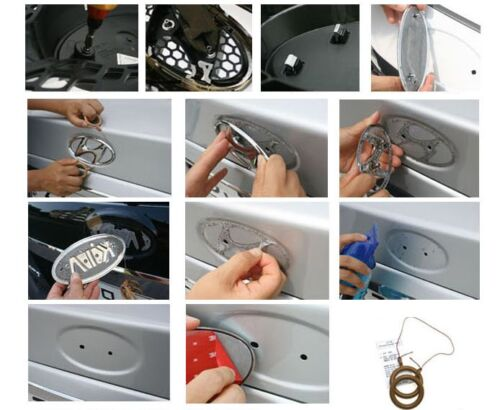 Tigris 3D Emblem Full Set Grille+Trunk+Horn+Wheel Cap For KIA FORTE KOUP 2010+