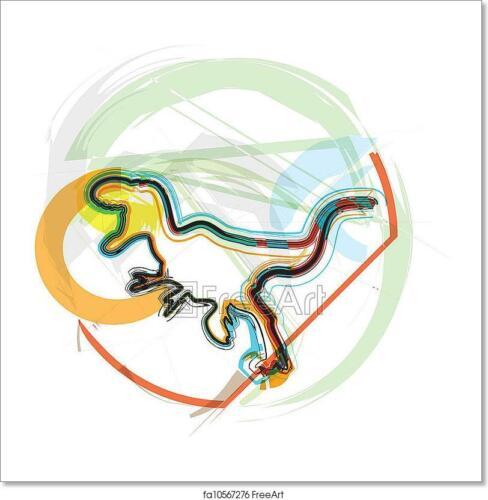 плакат Динозавр домашний декор вектор Иллюстрационное искусство//холст печать стена искусства