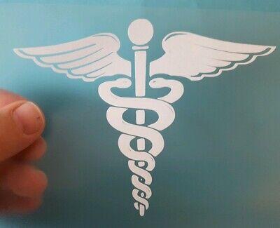 Caduceus Symbol Sticker Vinyl Decal EMT Medical Life Paramedic Car Ambulance EMS
