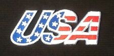 US USA UNITED STATES OF AMERICA STARS AND STRIPES FLAG BADGE IRON SEW ON PATCH 1