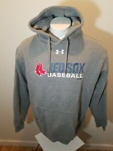 online retailer 2845b 3d387 Details about Men's XL Under Armour Boston Red Sox pullover Hoodie Cold  Gear Gray