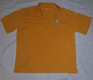 a61ec5a8a Pittsburgh Steelers Yellow Polo Shirt Size X-Large Antigua Polyester ...
