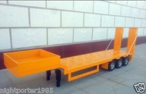 Details about 3-axis 1/14 Large Aluminum Semi Trailer with 2 in 1 Fold  Loading Panels NEW