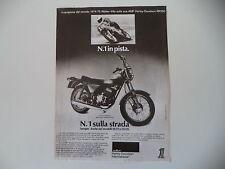 advertising Pubblicità 1976 MOTO AMF HARLEY DAVIDSON SS 250