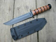 Valhalla Custom Kydex Sheath Ka-Bar 1217 Fighting USMC Kydex BLACK SHEATH ONLY