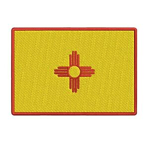 NEW-MEXICO-STATE-FLAG-embroidered-iron-on-PATCH-EMBLEM-applique