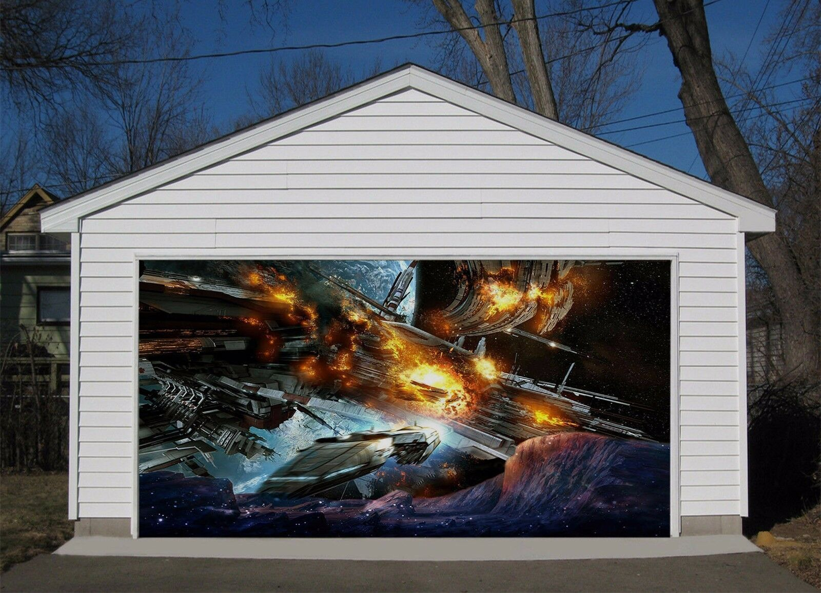 3D Magical space 7 Garage Door Murals Wall Print Decal Wall Deco AJ WALLPAPER UK