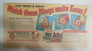 Kellogg's Cereal Ad: Snap, Crackle and Pop Rings From 1949 Size: 7.5 x 15 inches