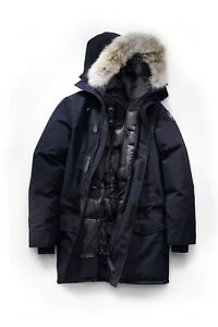 Canada-Goose-Langford-Parka-BLACK-LABEL-Admiral-Blue-Large-Worn-Once