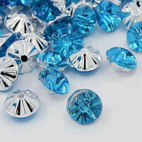 20 azul pálido acrílico Stass cristal botones elegante bestseller 13mm coser bricolaje #